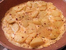 Haşlanmış Patates Omleti