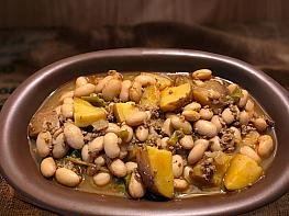 Kıymalı Patatesli Barbunya Yemeği