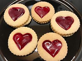 Marmelatlı Kalp Kurabiye