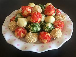 Renkli Patates Topları