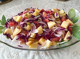 Kırmızı Lahanalı Patates Salatası